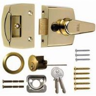 Era Replacement Front Door Lock 60mm - Finish: Brass Effect Body - Brass Cylinder